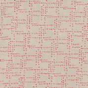 Flight by Janet Clare - 4972 - Rivets, Red Spot on Pale Beige - 1415 15 - Cotton Fabric